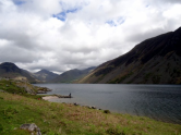 The beautiful lake at the base