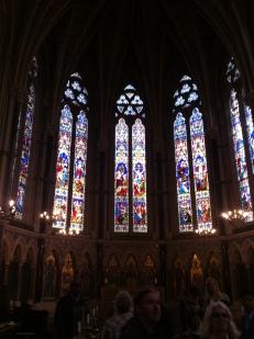 Inside trinity college chapel