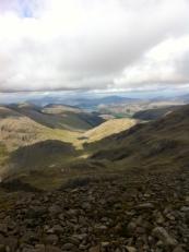 Across the mountain range