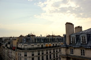 View from roof in morning