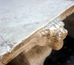 Detail on marble table