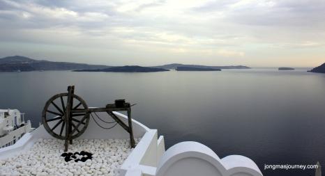 Overlooking the Calderra