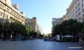 Popular shopping street in the morning